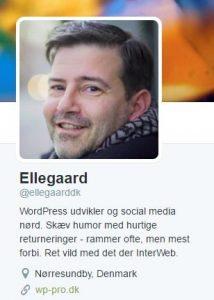 Twitterprofil for ellegaarddk